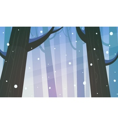 Winter forest vector