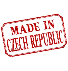 Czech republic - made in red vintage isolated vector