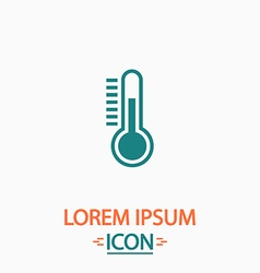 Temperature meter computer symbol vector