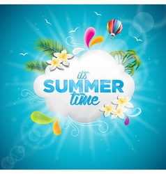 Summer time holiday typographic design vector