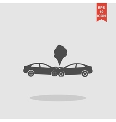 Car crash concept vector