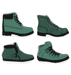 a set of shoes casual light gren-gray and dark vector image