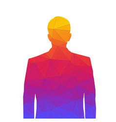 Accurate silhouette of a man from colored vector