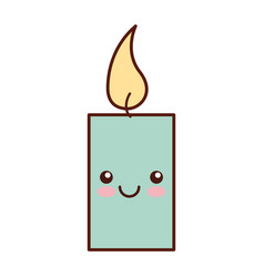 Aroma therapy candle spa kawaii character vector