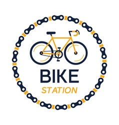 Bicycle station plate vector
