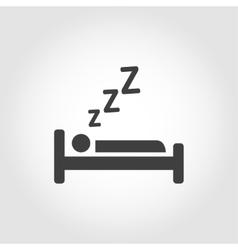 black sleeping icon vector image