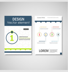 Brochure layout design template vector