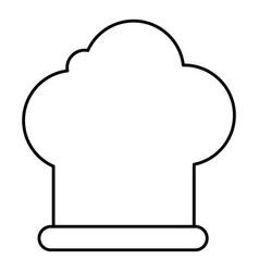 chef hat icon outline style vector image