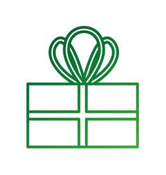 christmas gift box wrapped ribbon celebration vector image