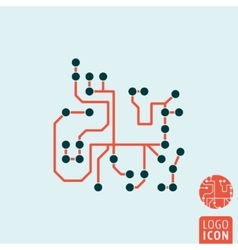 Computer chip icon isolated vector