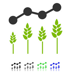 Crop analytics flat icon vector