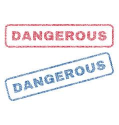 dangerous textile stamps vector image vector image