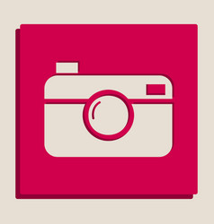 Digital photo camera sign grayscale vector