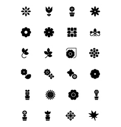 Flowers and floral icons 3 vector
