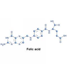 Folic acid folate vector image