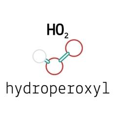 Ho2 hydroperoxyl radical molecule vector