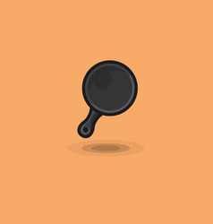 Icon frying pan for cooking at home and vector