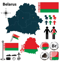 Map of Belarus vector image