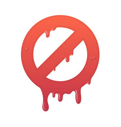 Melting stop icon not allowed info symbol vector