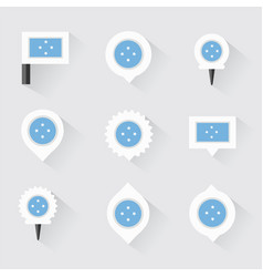 Micronesia flag and pins for infographic and map vector