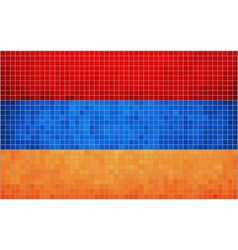 Mosaic Flag of Armenia vector image vector image