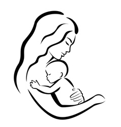 mother and baby4 vector image vector image