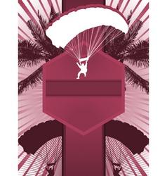 Parachuting design poster vector