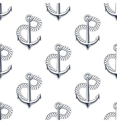 Retro ship anchors seamless pattern with twisted vector