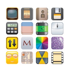 set of apps vector image vector image