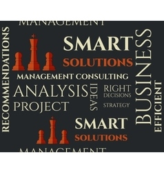 Smart solutions seamless pattern with management vector