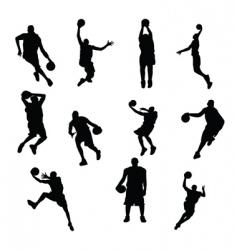 sportsmen silhouettes vector image