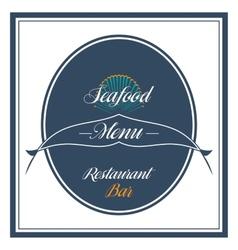 Vintage seafood label restaurant menu vector