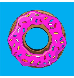Donut with sprinkles vector image