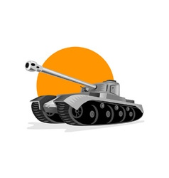 World War Two Panzer Battle Tank vector image