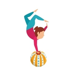Circus juggler show icon vector