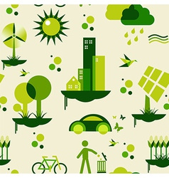 Green city pattern vector image