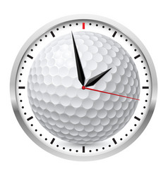 Wall clock golf style on white background vector