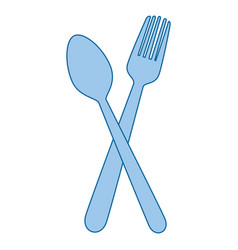 fork and spoon cutlery restaurant vector image