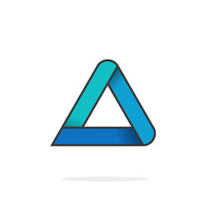 Triangle logo isolated on white geometric vector