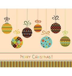 Decoration with stylized christmas balls vector