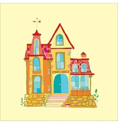 Beautiful mansion vector