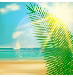 Tropical beach template vector image
