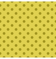 Tile green pattern or seamless dots background vector image