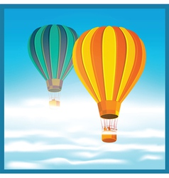 Air balloons in the clouds vector
