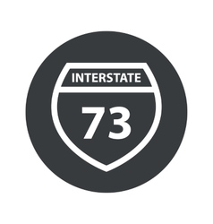 Monochrome round interstate 73 icon vector