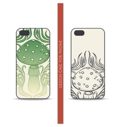 Design case for phone abstract mushroom vector