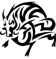 boar in tribal style - vector image