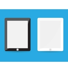 Computer tablet with blank white screen vector