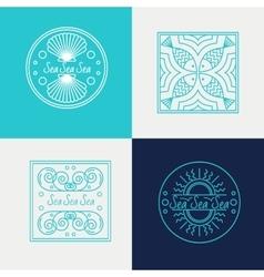 Sign concept  logos sea vector