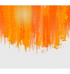 Orange grunge paint splashes background vector